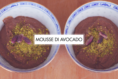 Mousse di avocado al cioccolato